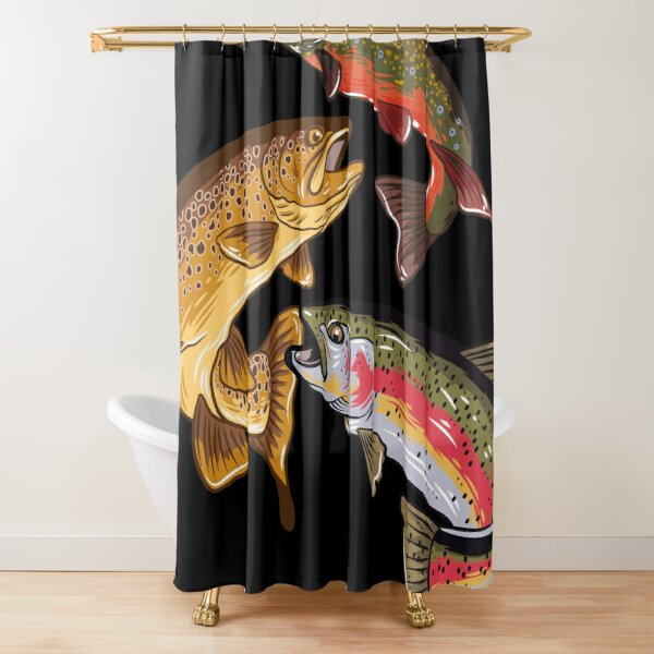 Fly Fishing Trout Tribute Shower Curtain