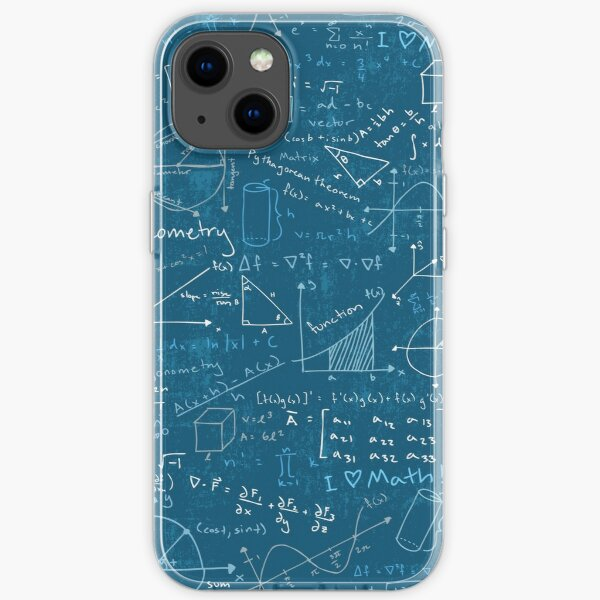 Math Lessons (Teal) iPhone Soft Case