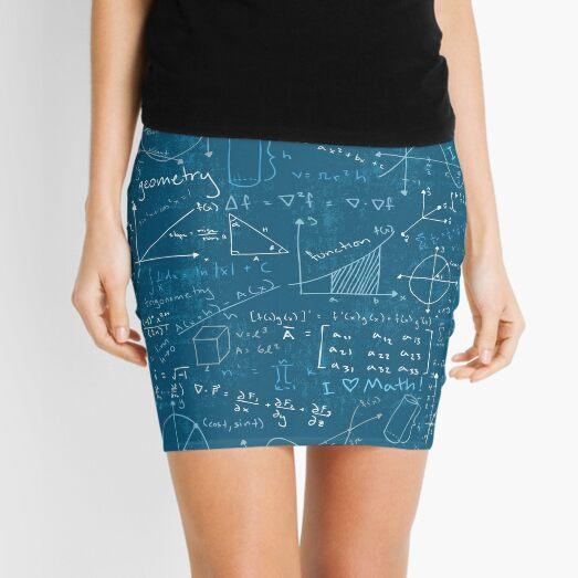 Math Lessons (Teal) Mini Skirt