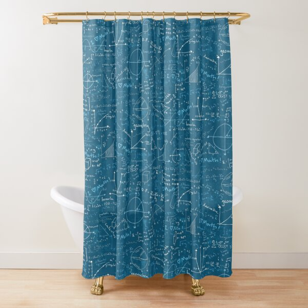 Math Lessons (Teal) Shower Curtain