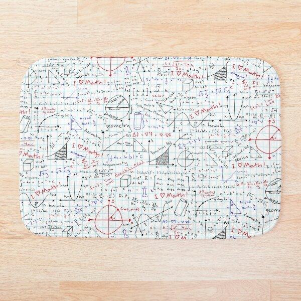 Math Homework Bath Mat