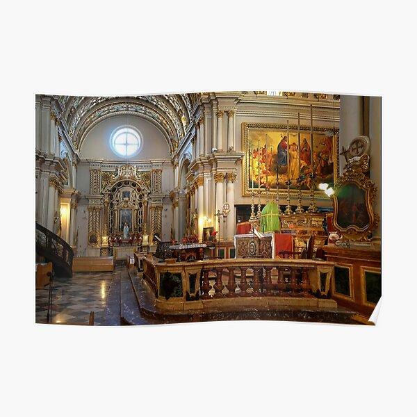 Naxxar Parish Church Malta 1630 A.D. Poster