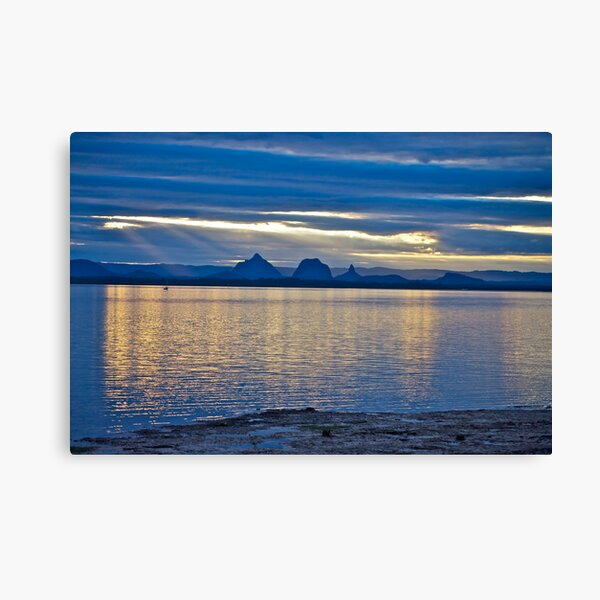 Sunset reflections - Glasshouse Mountains Canvas Print