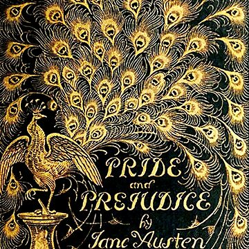 Pride and Prejudice Jane Austen Peacock cover by triinamariia