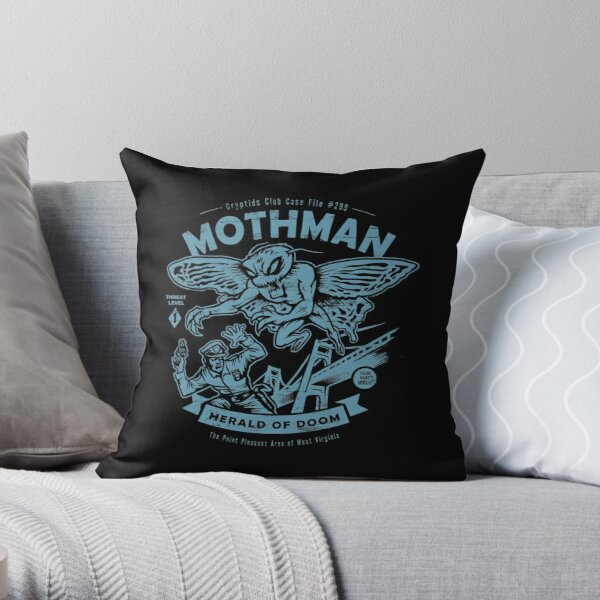 Mothman - Cryptids Club Case file #299 Throw Pillow