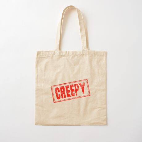 Creepy Cotton Tote Bag