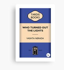 Who Turned Out The Lights Canvas Print