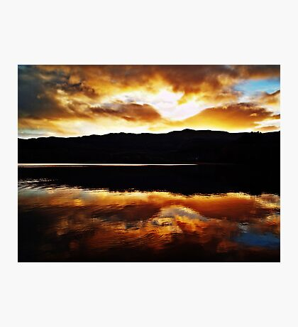 Sunset Reflections Over Loch Achray Photographic Print