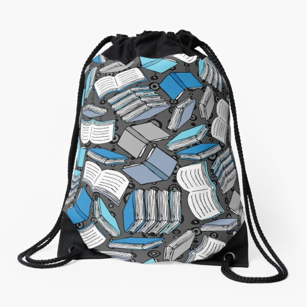 So Many Books... Drawstring Bag