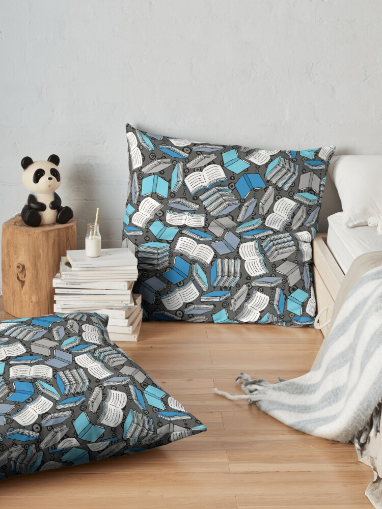 Alternate view of So Many Books... Floor Pillow