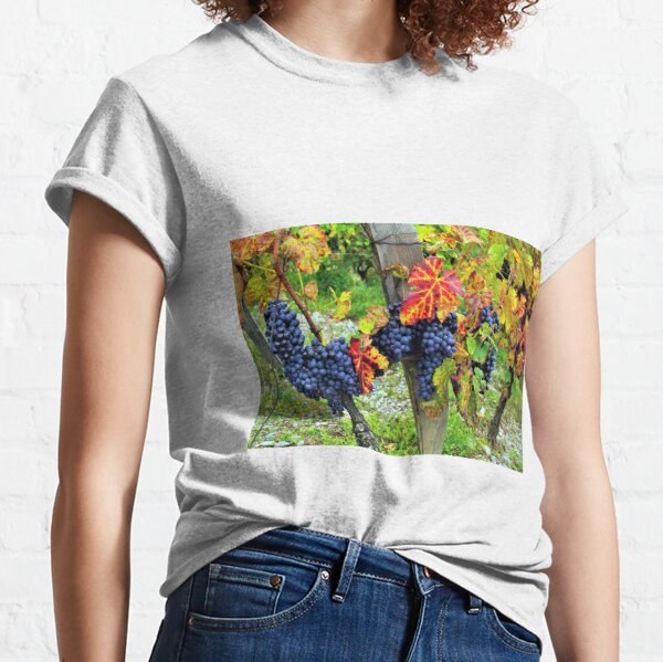 Colorful grapes and vines from the French Alps Classic T-Shirt