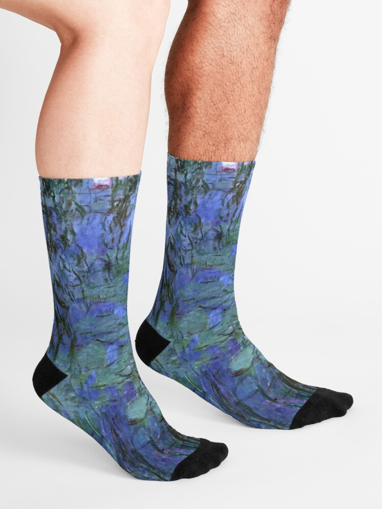 Alternate view of Blue Water Lilies, Claude Monet Socks