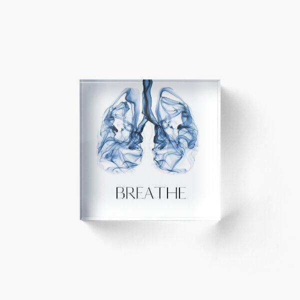 Wim Hof Breathe Acrylic Block