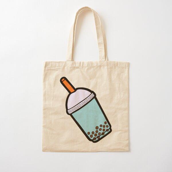 Bubble Tea Pattern Cotton Tote Bag