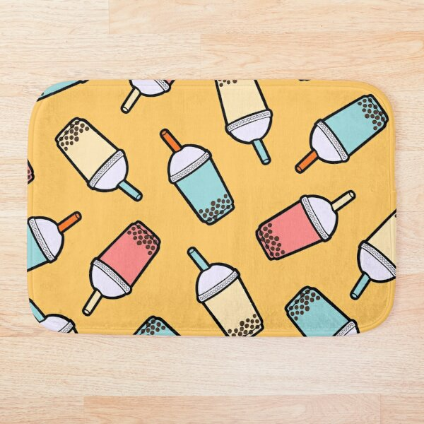 Bubble Tea Pattern Bath Mat