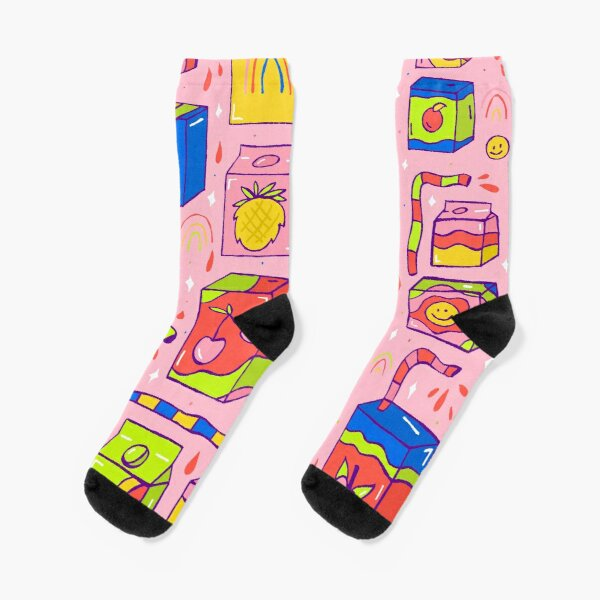 Juice Box Print Socks