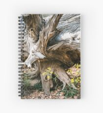 Fallen Tree with Flowers in the Grand Canyon Spiral Notebook