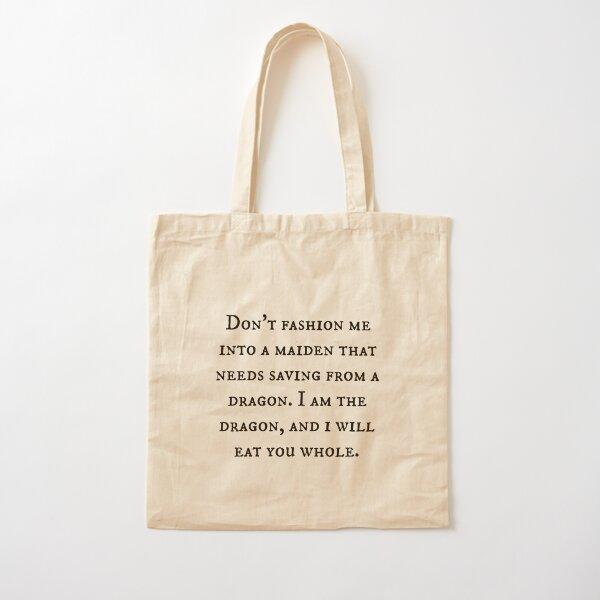 Dragon of Feminism 2 Cotton Tote Bag