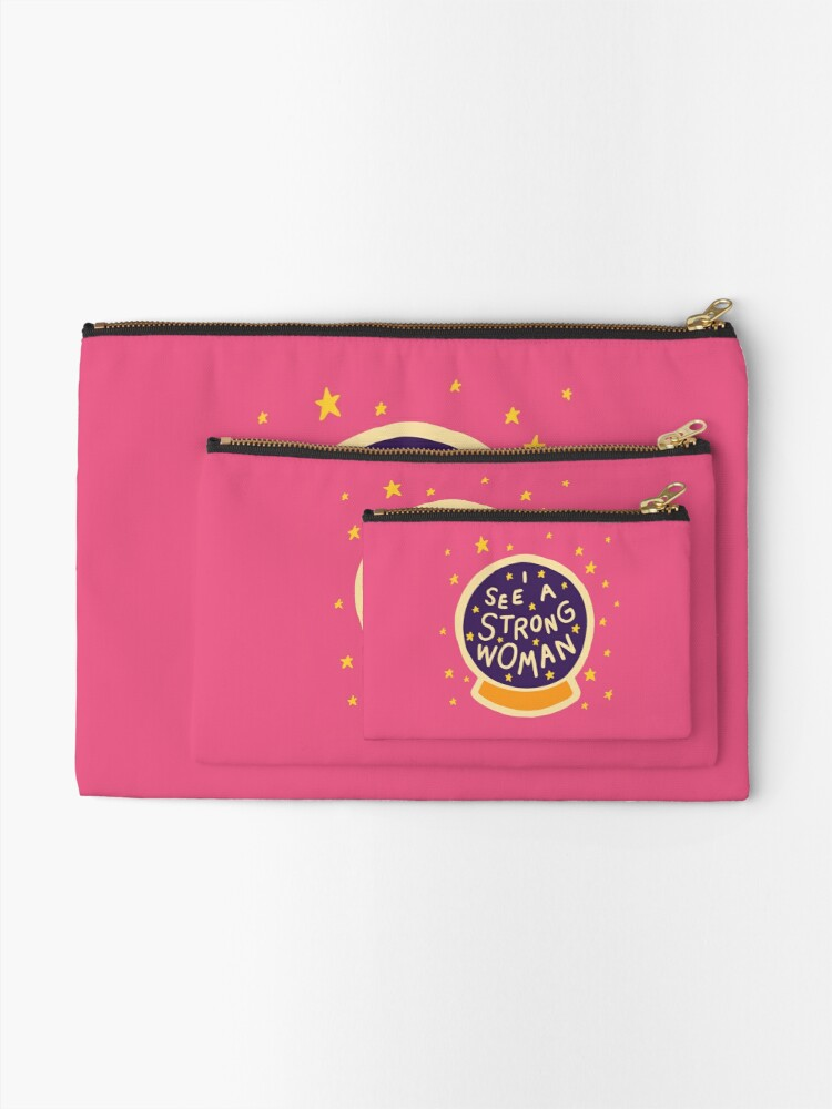 Alternate view of I see a strong woman Zipper Pouch