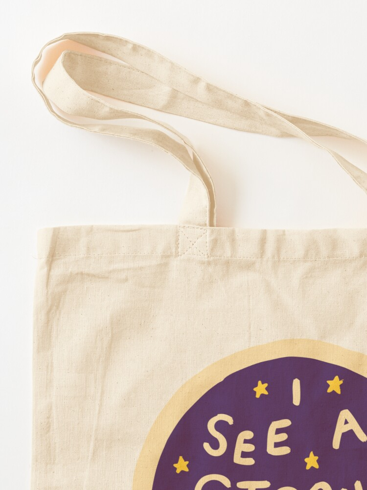 Alternate view of I see a strong woman Tote Bag