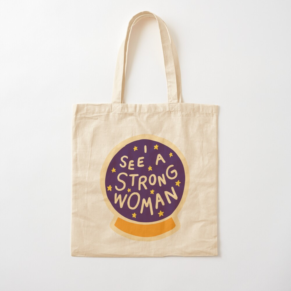 I see a strong woman Cotton Tote Bag