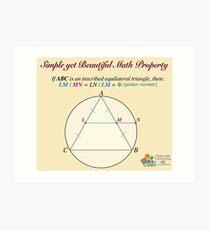 Golden Geometry Art Print