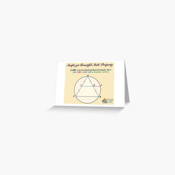 Golden Geometry Greeting Card