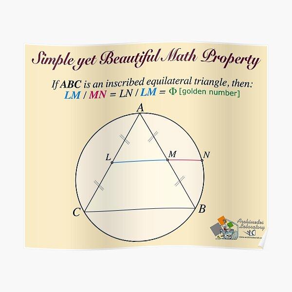 Golden Geometry Poster