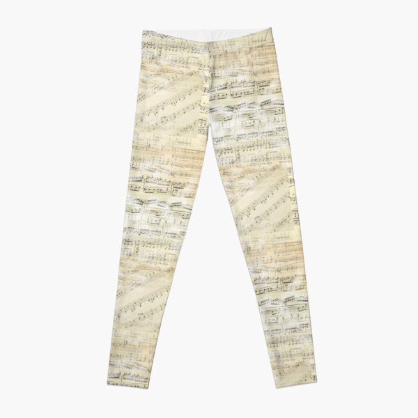 Vintage Sheet Music Leggings