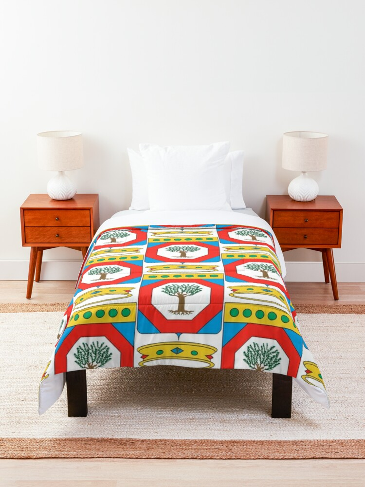 Alternate view of Coat of Arms of Apulia, Italy Comforter
