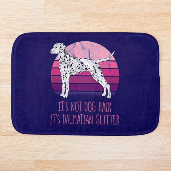 It's Not Dog Hair, It's Dalmatian Glitter Bath Mat