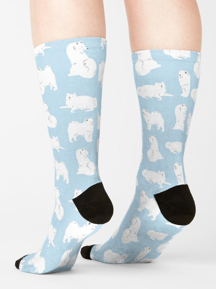 Alternate view of Samoyed Print Socks