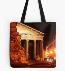Panteon with a Fountain. Rome, Italy 2010 Tote Bag