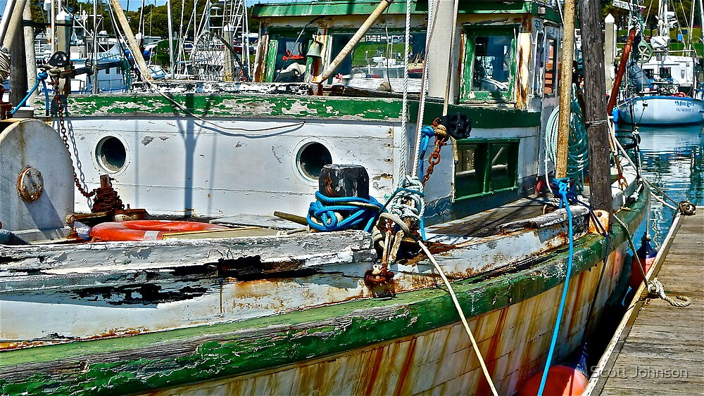 Working Boat With Some Miles by Scott Johnson