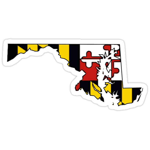 Quot Maryland Flag State Outline Quot Stickers By Artisticattitud