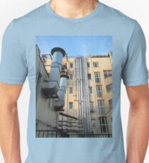 Back of the multistorey office building Unisex T-Shirt