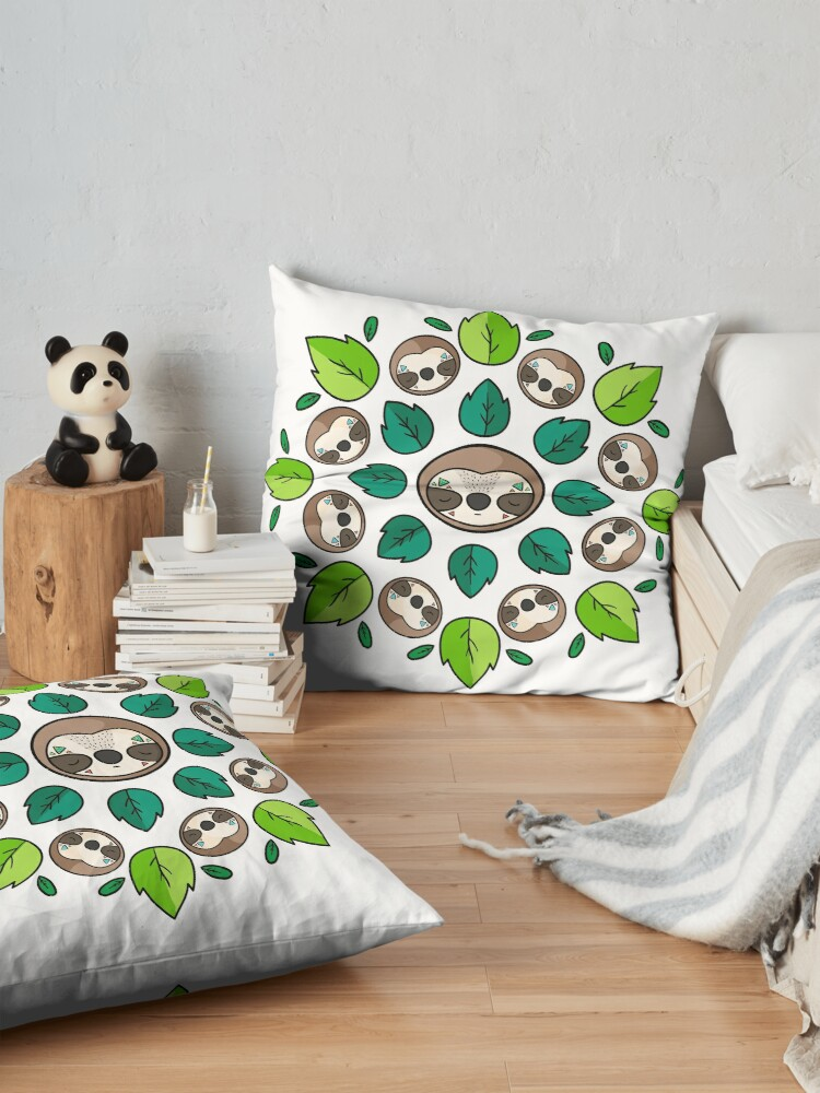 Alternate view of Mandala Sloth Floor Pillow