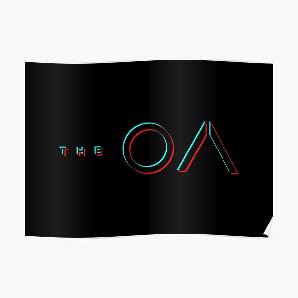 The OA Glitch Blur - black Poster