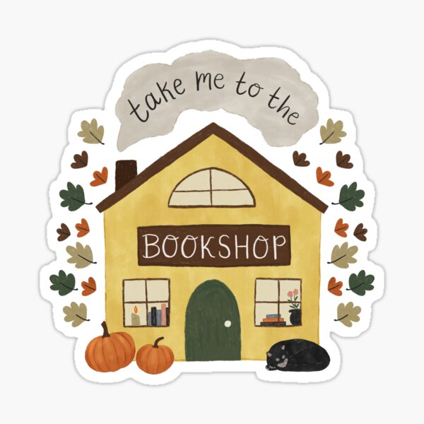 Take Me to the Bookshop Sticker