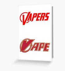 vapor sticker 2 pack Greeting Card