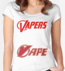 vapor sticker 2 pack Women's Fitted Scoop T-Shirt