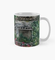 Cabin Landscape with Flowers: Watercolour Painting Mug