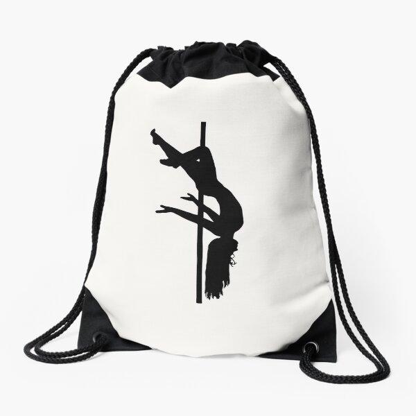 Pole Dancing Design Drawstring Bag