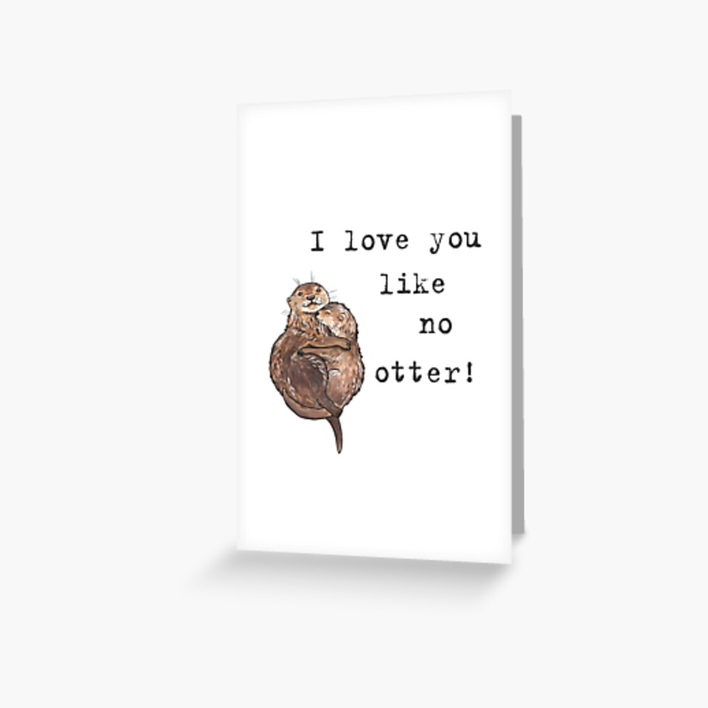 Otters - Animal series Greeting Card