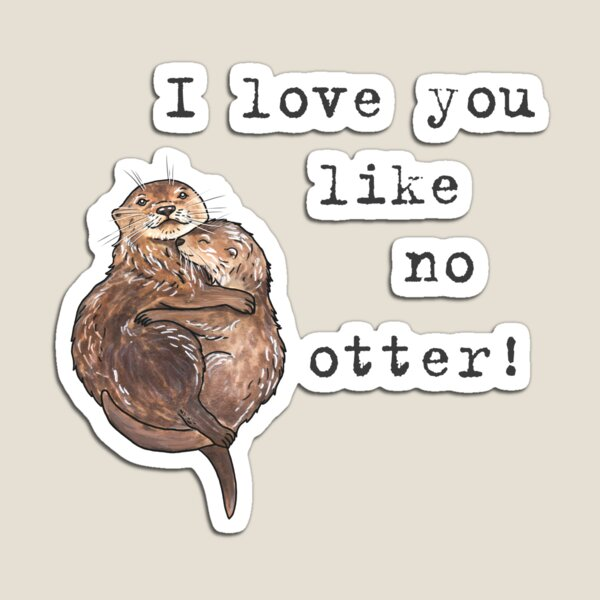 Otters - Animal series Magnet