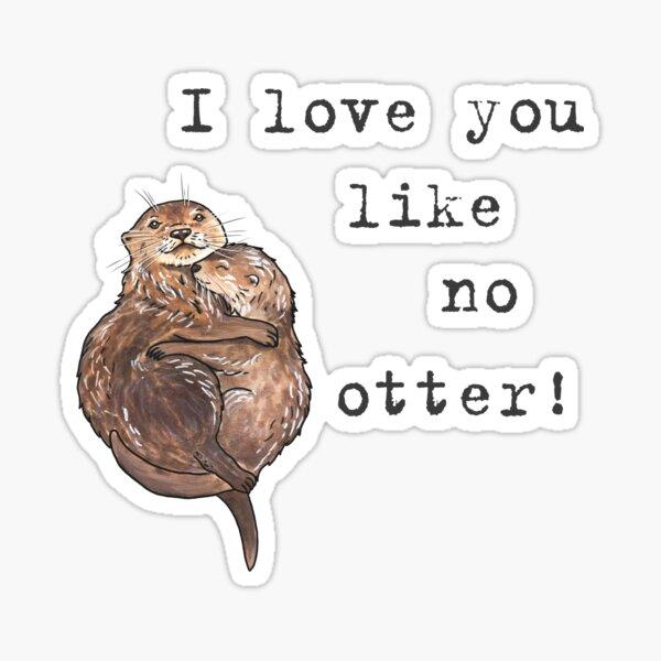 Otters - Animal series Sticker