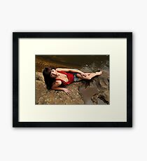 Louise - red cowl 1 Framed Print