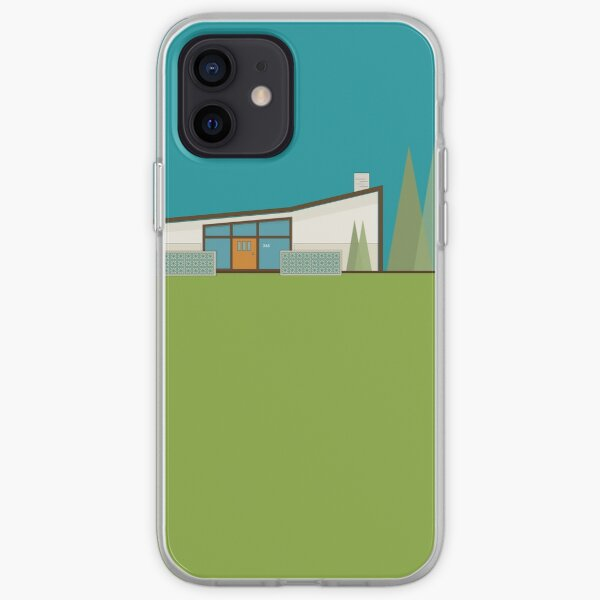 """Mid Century Modern House """"365 Minerva Lane"""" by Bobby West iPhone Soft Case"""