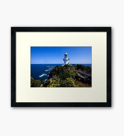 The light house at Seal Rocks Framed Print