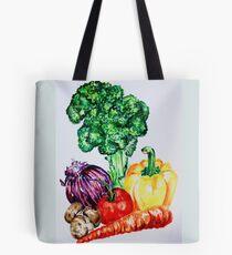 Vegetables Watercolour Artwork Tote Bag